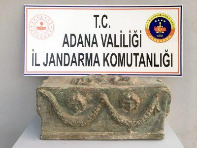 Ceyhan ilçesinde tarihi eser satılmAdana İl Jandarma Komutanlığınca Yumurtalık ilçesinde yapılan istihbari çalışmalaraya çalışıldı