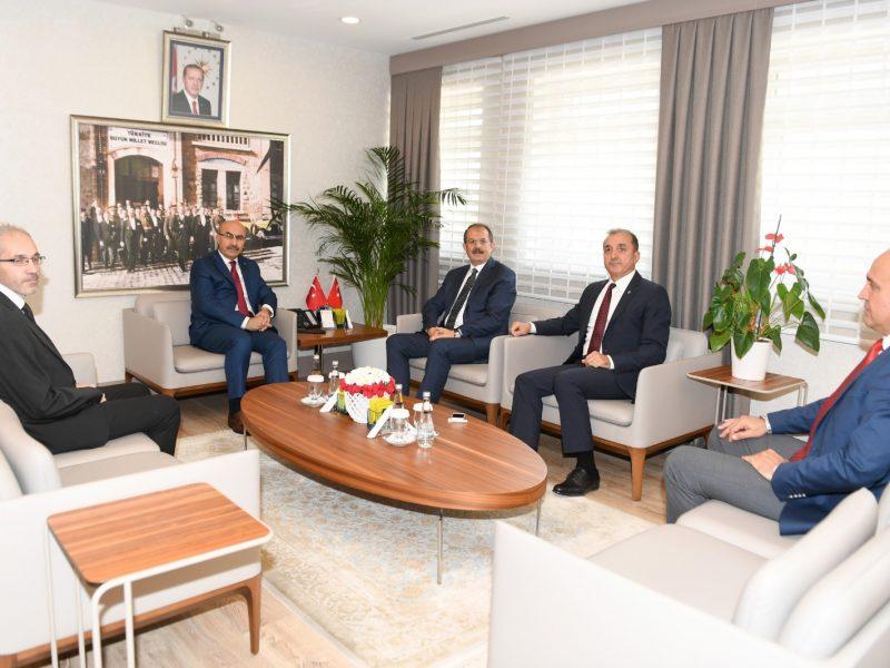Vali Yardımcısı Mustafa Aydın'ında hazır bulunduğu ziyarette
