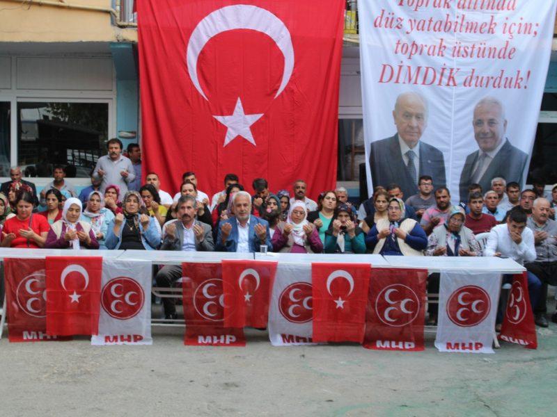 Terör örgütlerine karşı amansız mücadele veren Türkiye Cumhuriyeti Devleti, vatandaşlarının can güvenliği ve ülkenin geleceği için tedbirler alırken, bu zor günlerde MHP Genel Başkanımız Sayın Devlet Bahçeli
