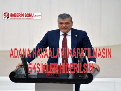"""Ayhan Barut, şunları kaydetti: """"Güzel Adana'ya daha fazla yatırım yapılsın, kamu yatırımlarının payı arttırılsın diye uğraşırken Adana Havalaalanı ile dedikodulara da son verilmesini istiyoruz."""