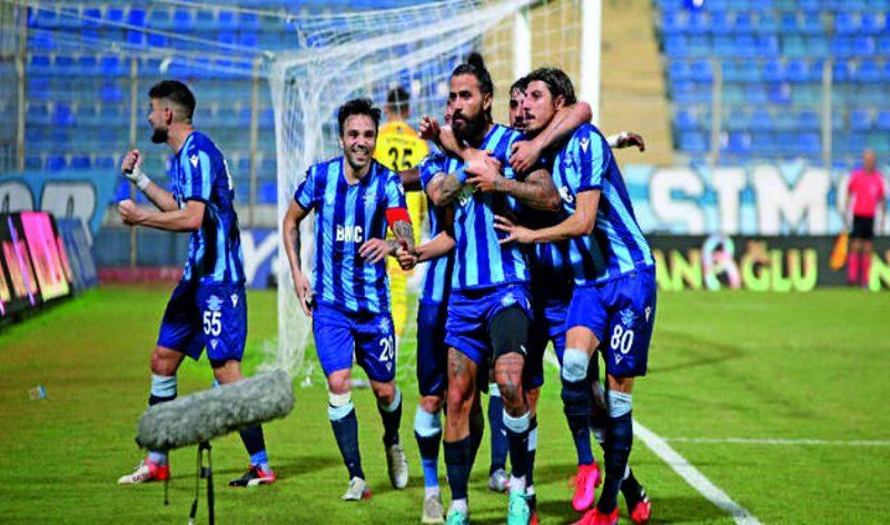 Bu sonuçla puanını 55'e çıkartan Adana Demirspor, lider Hatay'ın 5, ikinci sıradaki Erzurumspor'un 1 puan gerisine düştü.