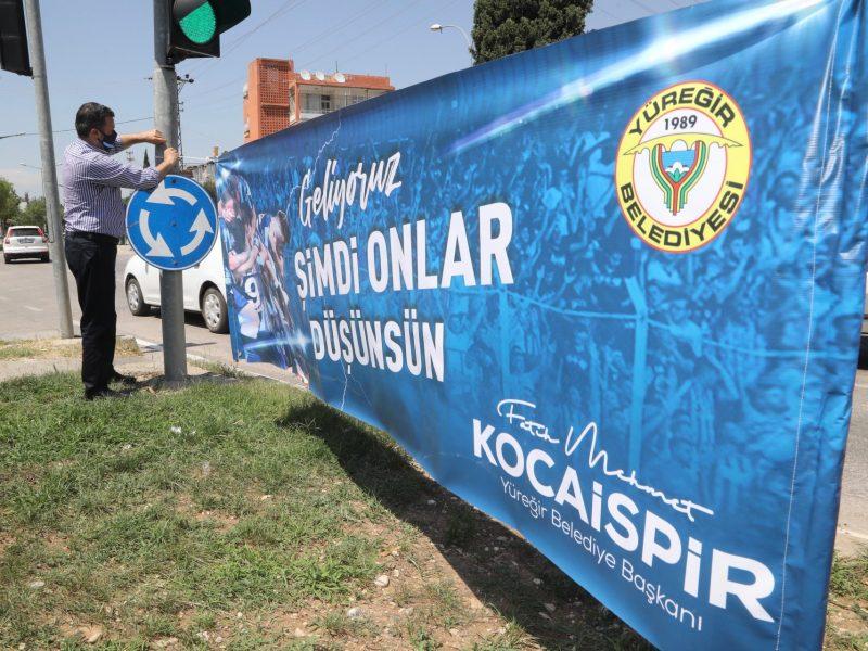 """Başkan Kocaispir, """"Şehrimize bu heyecanı yaşatan Adana Demirspor'umuzu yürekten kutluyorum."""