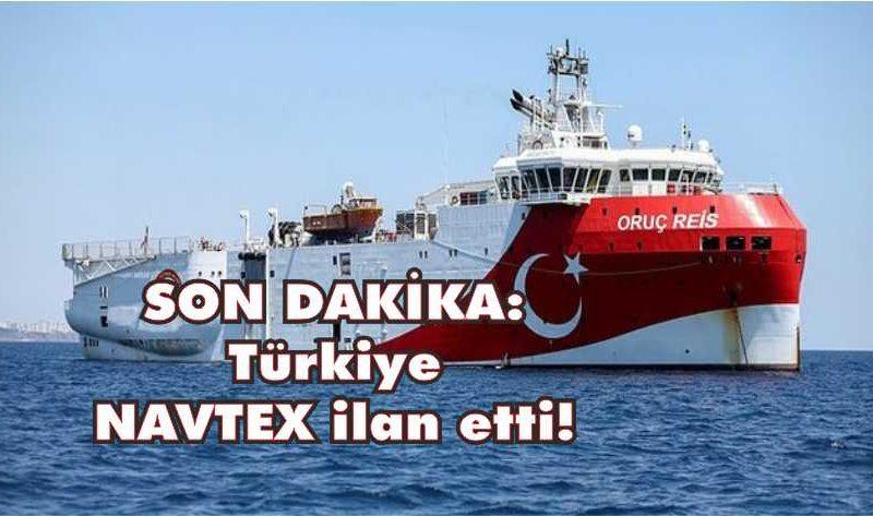 Oruç Reis Sismik Araştırma Gemisi görev yapacağı bölgeye ulaştı. Yunanistan ile Mısır arasında imzalanan deniz yetki alanlarının sınırlandırılması anlaşmasına yönelik ilan edilen NAVTEX, Yunanistan'ta panikle karşılandı.